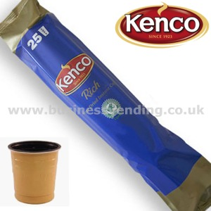 73mm In-Cup Kenco Rich Coffee White 12x25 cups