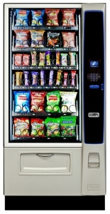 CRANE MERCHANT MEDIA 4 KEYPAD Snack & Cold Drink Vending Machine