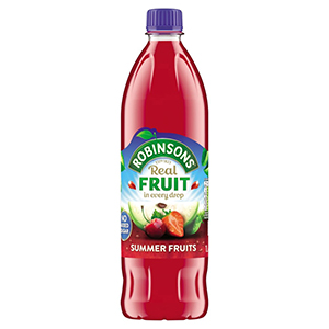 Robinsons (No Added Sugar) Summer Fruits 1litre X 12
